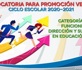 Convocatoria a promoción vertical en Educación Básica. Dirección y Supervisión 2020-2021