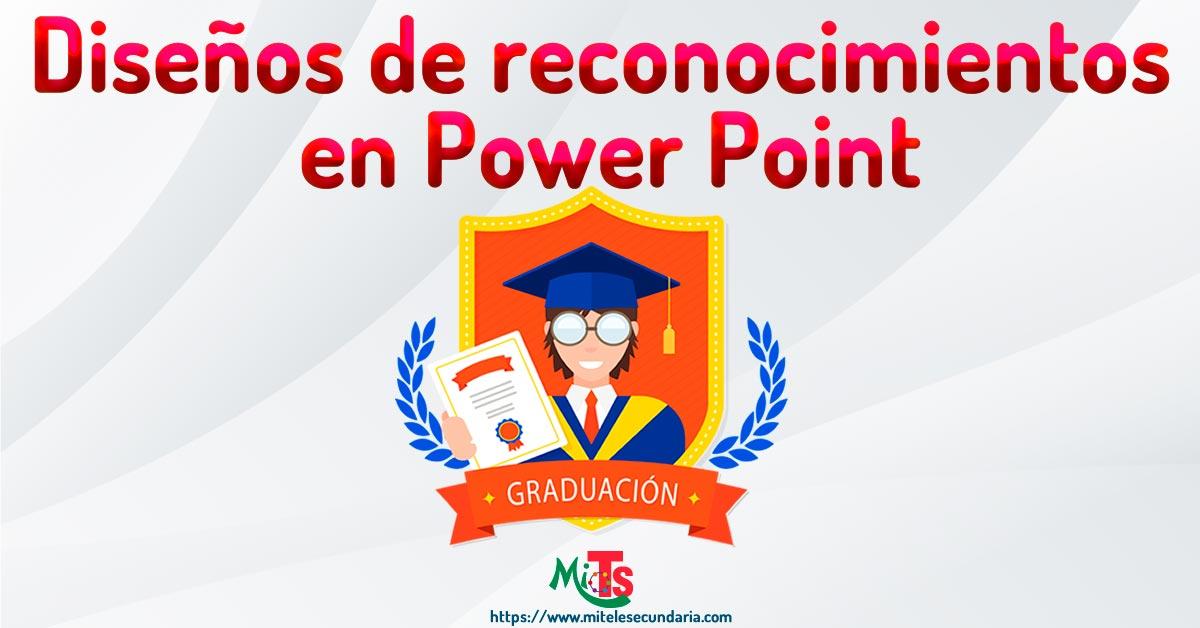 Diseños profesionales de reconocimientos para graduación en power point