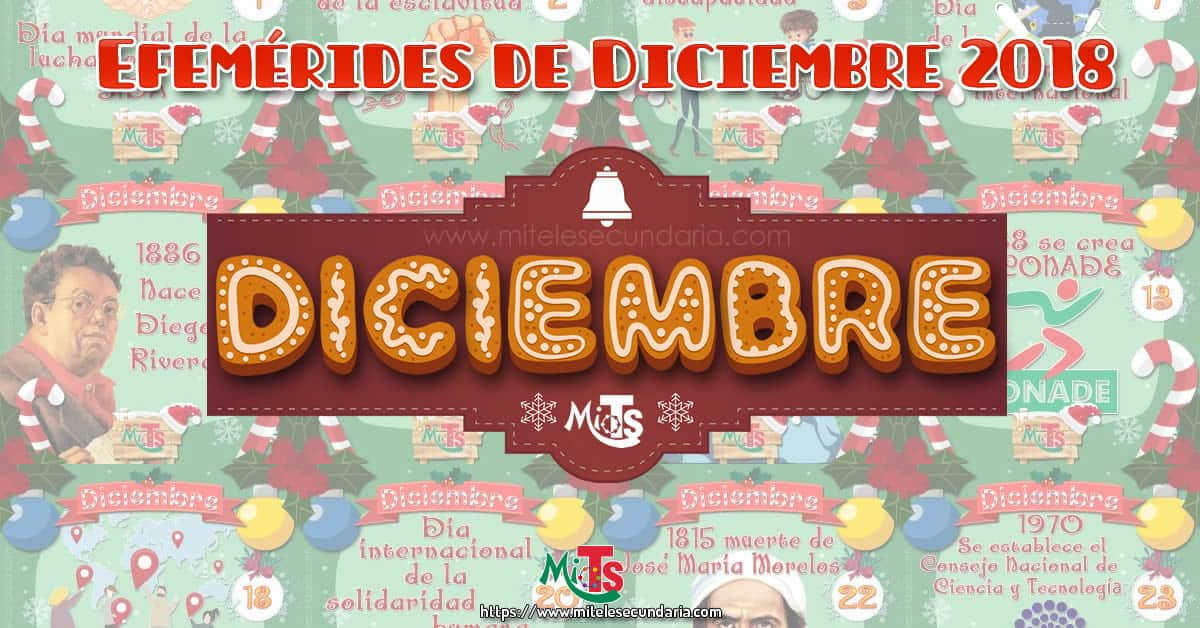 Diseños de Efemérides para diciembre 2018