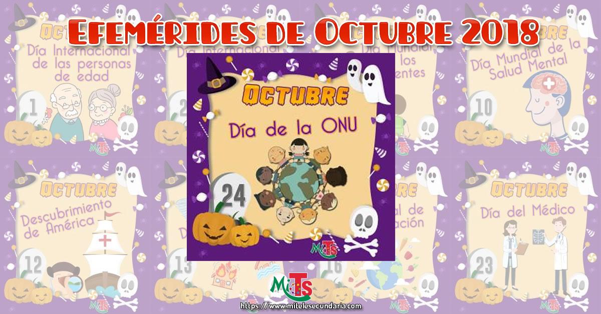 Diseños de Efemérides para octubre halloween 2018