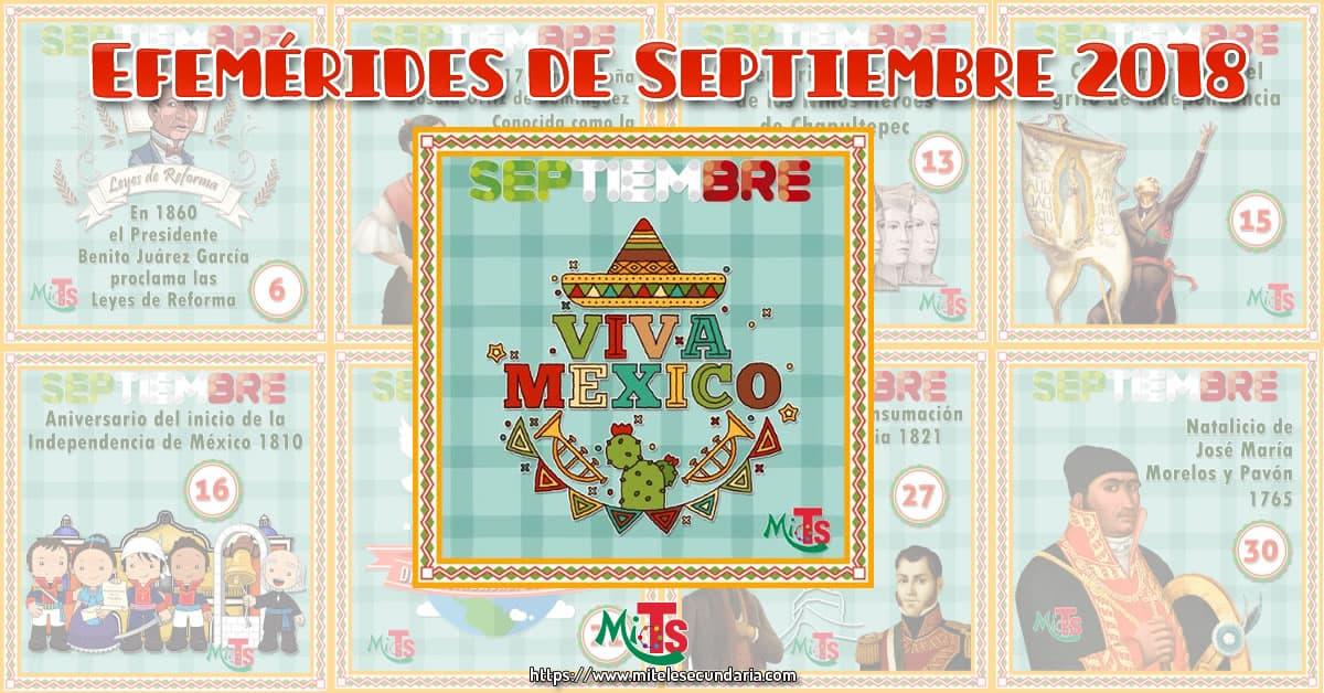 Diseños de Efemérides para septiembre 2018