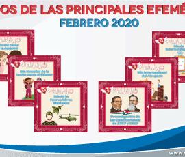 Diseños de Efemérides para febrero 2020