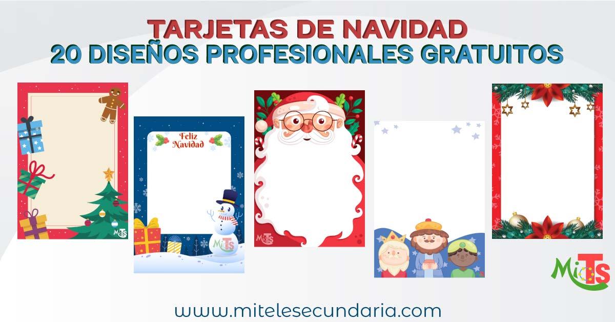 Tarjetas de Navidad. Diseños profesionales totalmente gratis