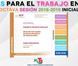 Ficha para el trabajo en CTE de Educación Inicial. Octava sesión ordinaria 2018-2019