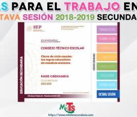 Ficha para el trabajo en CTE de Educación Secundaria. Octava sesión ordinaria 2018-2019