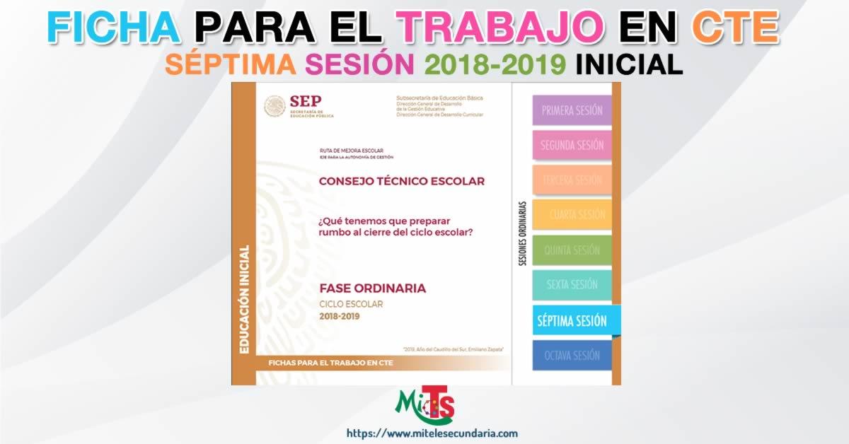 Ficha para el trabajo en CTE de Educación Inicial. Séptima sesión ordinaria 2018-2019