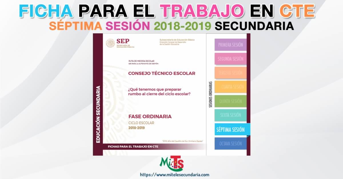 Ficha para el trabajo en CTE de Educación Secundaria. Séptima sesión ordinaria 2018-2019