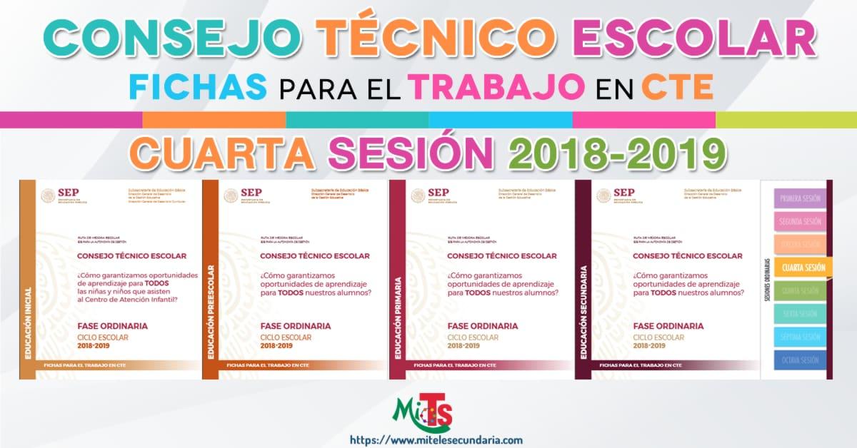 Fichas para el trabajo en CTE cuarta sesión ordinaria-2018-2019