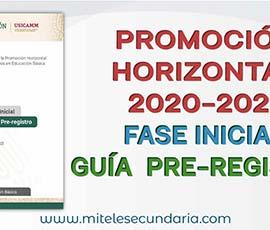 Guía para el Pre-registro a la Promoción Horizontal 2021