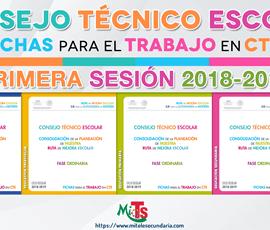 Fichas para el trabajo en CTE. Primera sesión ordinaria 2018-2019