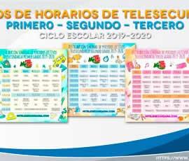 Diseños de horario de Telesecundaria para el ciclo escolar 2019-2020