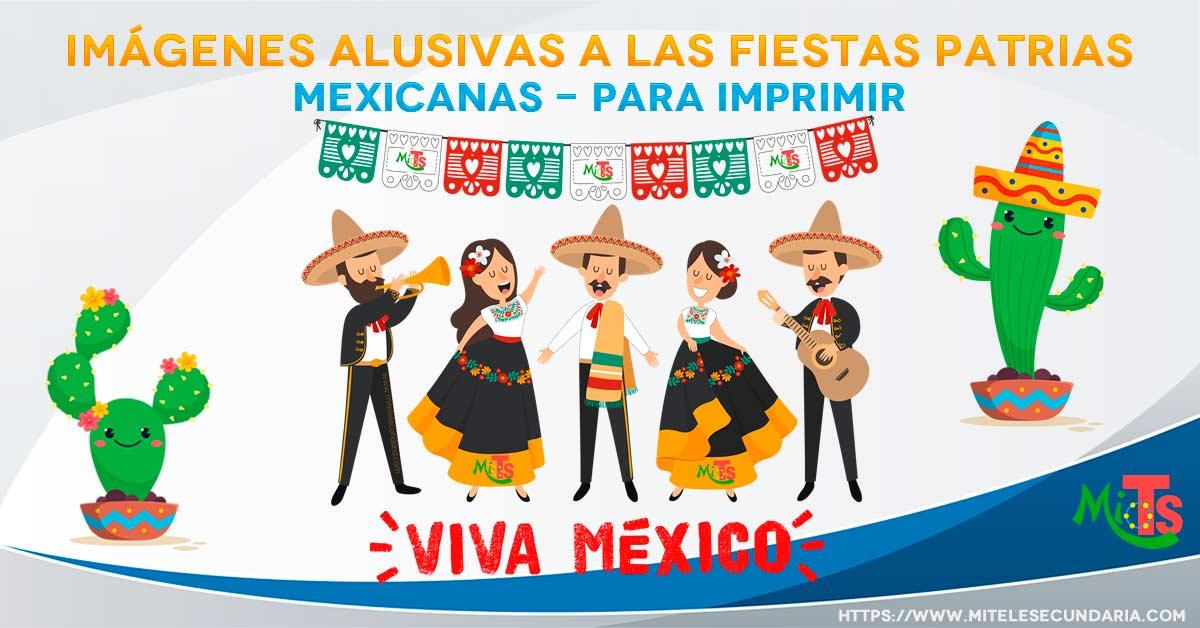 Imágenes alusivas a las fiestas patrias en México para imprimir
