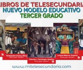 Libros de Telesecundaria Tercer grado Nuevo Modelo Educativo para el alumno. Volumen 1