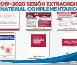 Material complementario para la sesión extraordinaria del CTE. Ciclo escolar 2019-2020