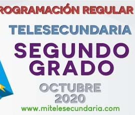 Parrilla de programación de Telesecundaria. Segundo grado. Octubre 2020