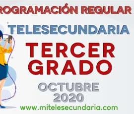 Parrilla de programación de Telesecundaria. Tercer grado. Octubre 2020