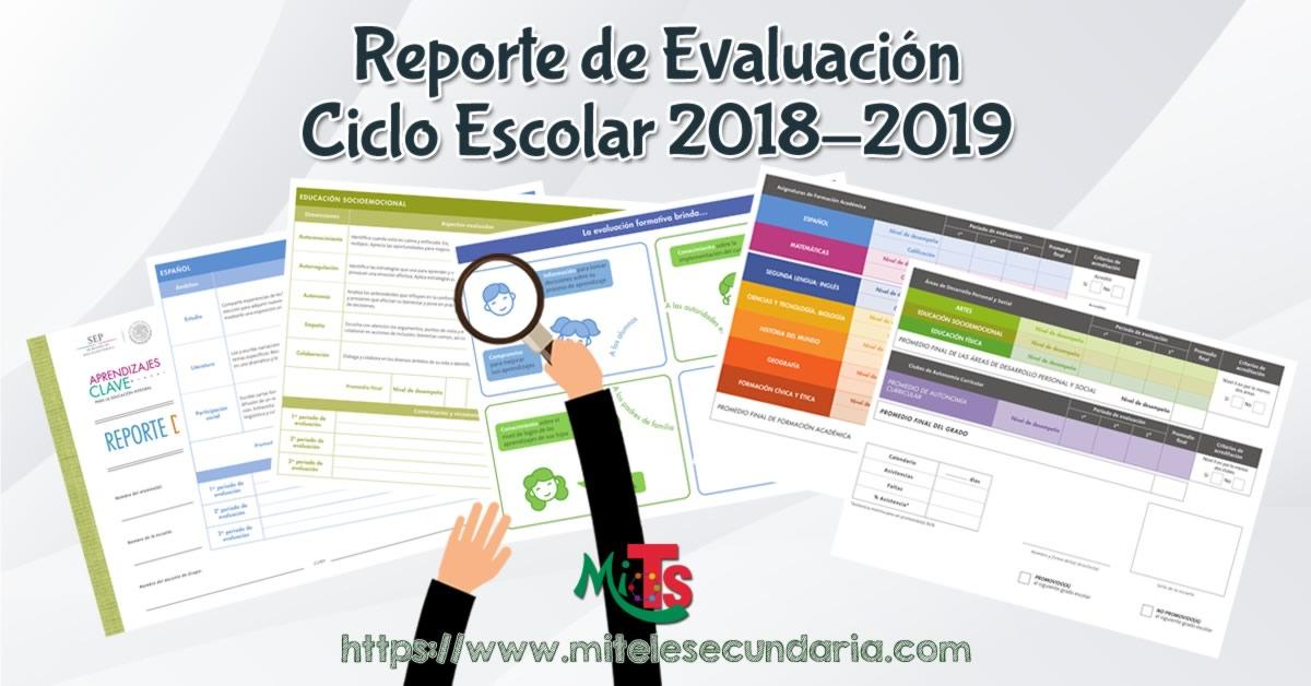 Reporte de evaluación Ciclo Escolar 2018-2019