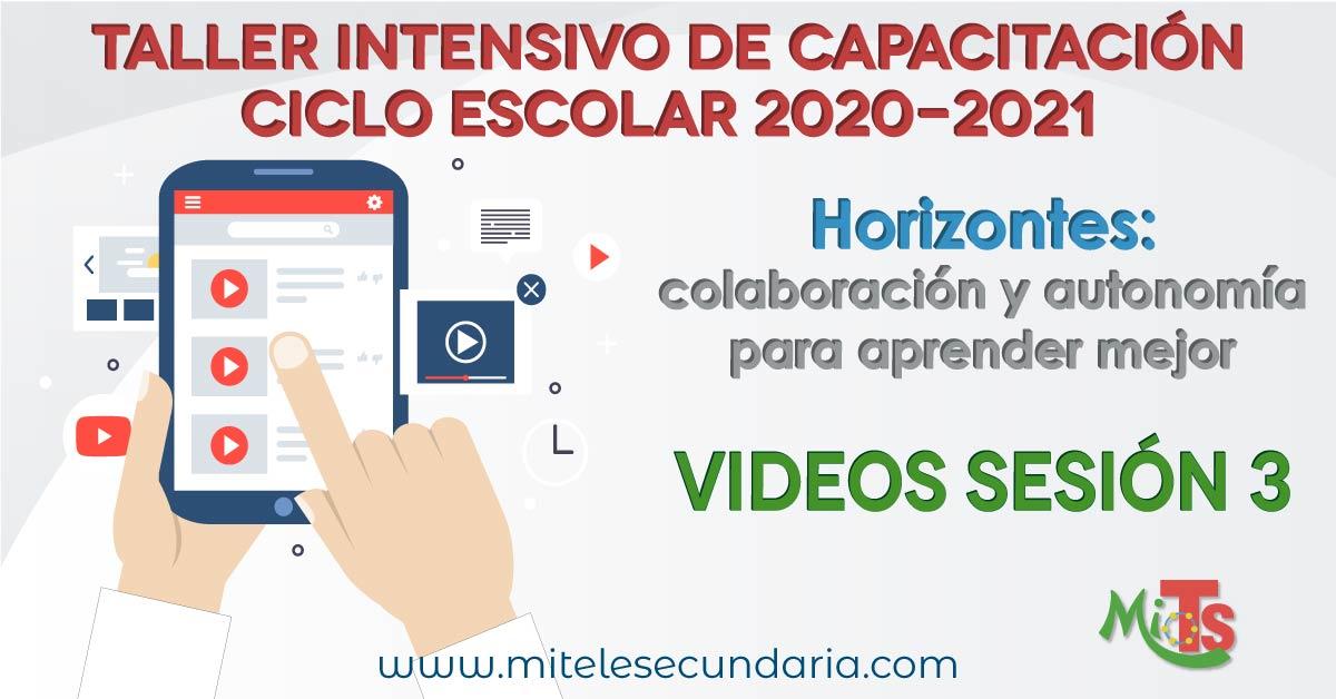 Videos y documentos para el Taller Intensivo de Capacitación Docente 2020-2021. Sesión 3