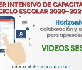 Videos del Taller Intensivo de Capacitación Docente 2020-2021. Sesión 4